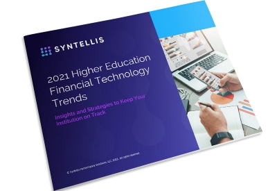 2021 Higher Education Financial Trends Report ebook thumbnail