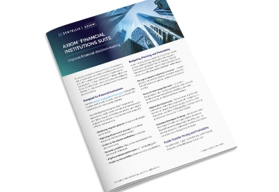Axiom Financial Institutions Suite - Solution Brief cover