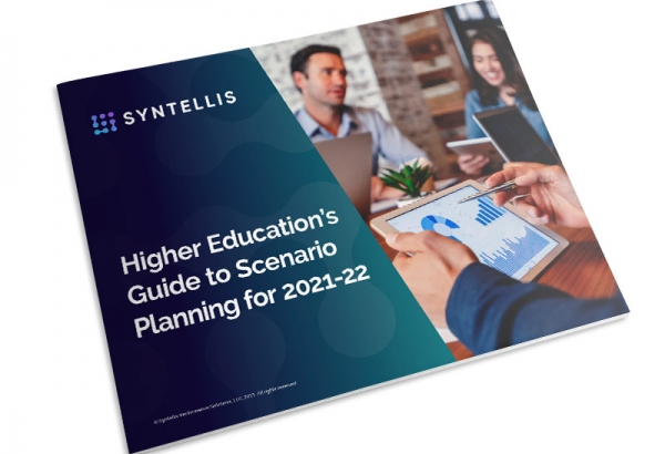 eBook thumbnail - Higher Education's Guide to Scenario Planning for 2021-22